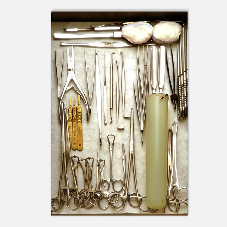 Instruments used in ortho Postcards (Package of 8)
