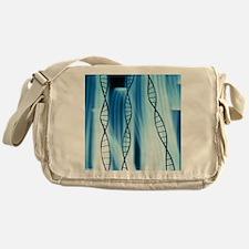 DNA helices Messenger Bag