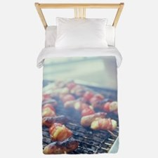 Barbecuing meat Twin Duvet