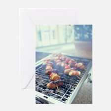 Barbecuing meat Greeting Card