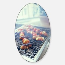 Barbecuing meat Sticker (Oval)