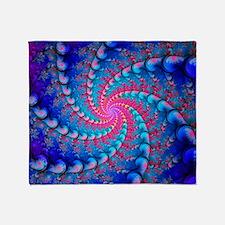 Julia fractal Throw Blanket
