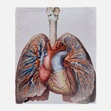Lung blood vessels Throw Blanket