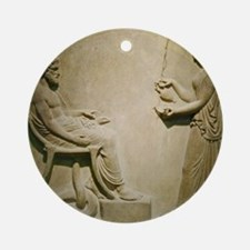 Aesculapius, Roman god Round Ornament
