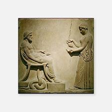 "Aesculapius, Roman god Square Sticker 3"" x 3"""