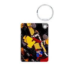 Assorted Lego bricks and c Keychains