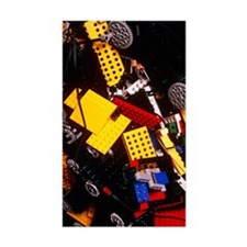 Assorted Lego bricks and cogs Decal