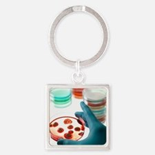 Microbiology research Square Keychain