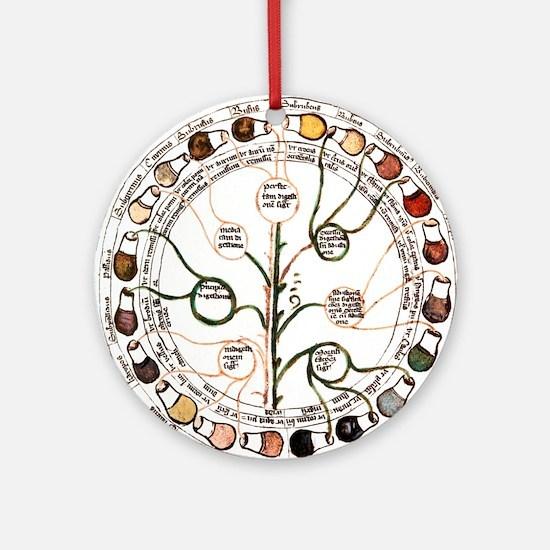 Medieval urine wheel Round Ornament