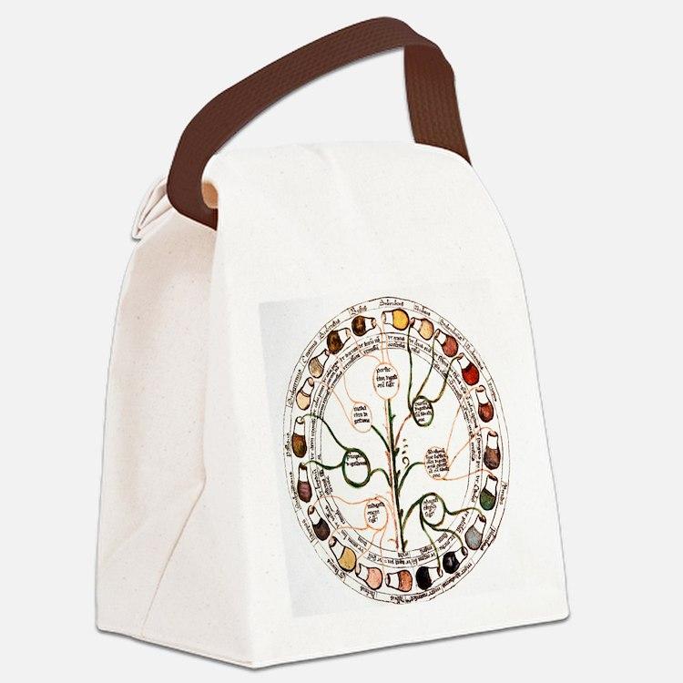 Medieval urine wheel Canvas Lunch Bag