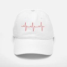 Heartbeat Baseball Baseball Cap