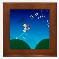 Abstract artwork of a dyslexic boy cha Framed Tile