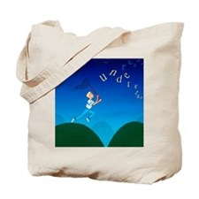 Abstract artwork of a dyslexic boy chasin Tote Bag