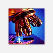 """Microscope objective lenses Square Sticker 3"""" x 3"""""""