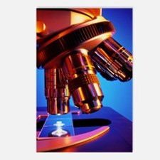 Microscope objective lens Postcards (Package of 8)