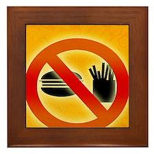 No fast food sign Framed Tile