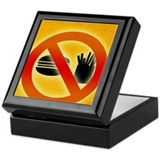 No fast food sign Keepsake Box