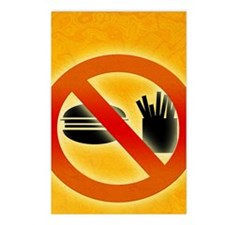 No fast food sign Postcards (Package of 8)