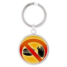 No fast food sign Round Keychain