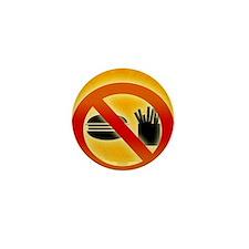 No fast food sign Mini Button