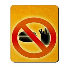 No fast food sign Mousepad