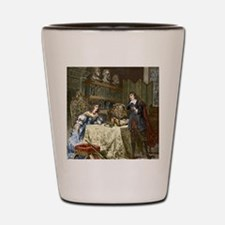 Rene Descartes and Queen Christina Shot Glass