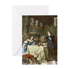 Rene Descartes and Queen Christina Greeting Card