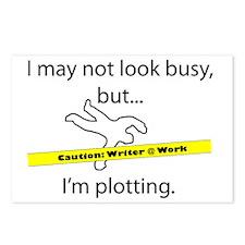 Beware: Plotting Writer Postcards (Package of 8)