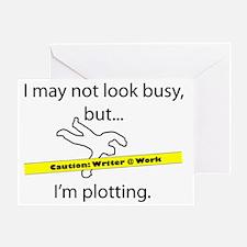 Beware: Plotting Writer Greeting Card