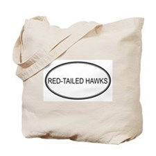 Oval Design: RED-TAILED HAWKS Tote Bag
