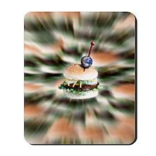 Beefburger world Mousepad