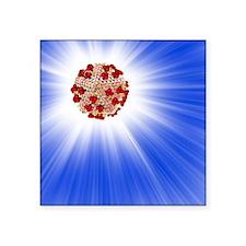 "AIDS virus particle, comput Square Sticker 3"" x 3"""