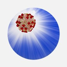 AIDS virus particle, computer artwo Round Ornament