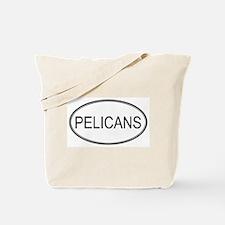 Oval Design: PELICANS Tote Bag