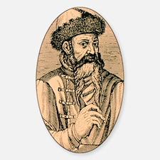 1584 engraving of Johann Gutenberg Decal