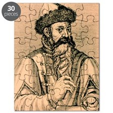 1584 engraving of Johann Gutenberg Puzzle