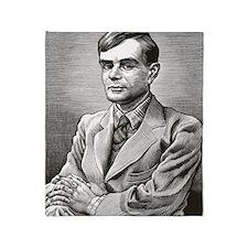 Alan Turing, British mathematician Throw Blanket