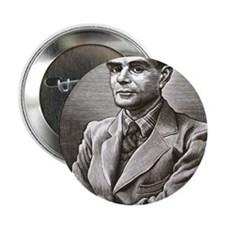 "Alan Turing, British mathematician 2.25"" Button"