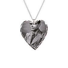 Alan Turing, British mathemat Necklace Heart Charm