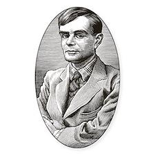 Alan Turing, British mathematician Decal