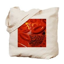 Interior of human blood vessel showing a  Tote Bag