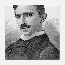 Nikola Tesla, Serb-US physicist Tile Coaster
