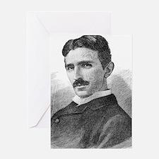 Nikola Tesla, Serb-US physicist Greeting Card