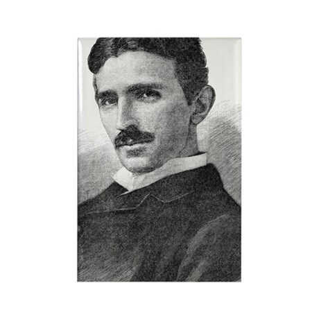 Nikola Tesla, Serb-US physicist Rectangle Magnet