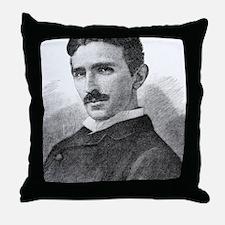 Nikola Tesla, Serb-US physicist Throw Pillow