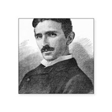 "Nikola Tesla, Serb-US physi Square Sticker 3"" x 3"""