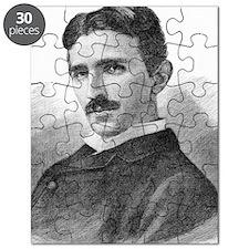 Nikola Tesla, Serb-US physicist Puzzle