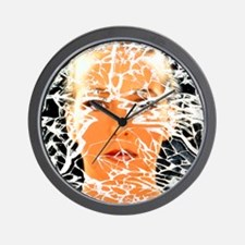 Abstract image of woman with shattered  Wall Clock