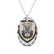 uss leahy cg patch transparent Necklace