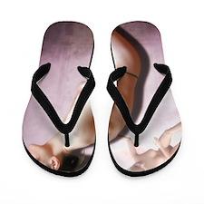 Anorexic woman, conceptual image Flip Flops